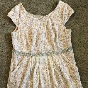 David's bridal plus size dress size 20